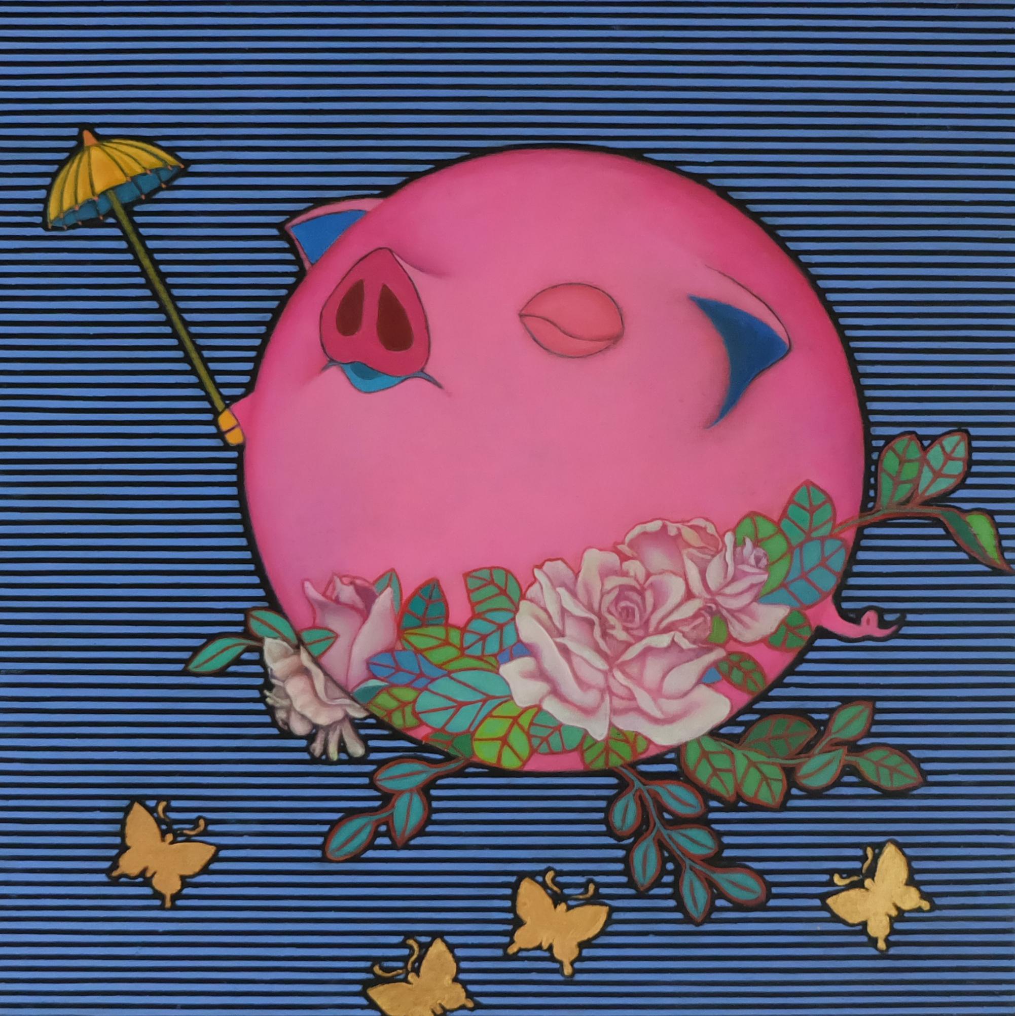 Happy Pig (Rose-1)