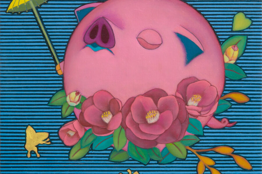 Happy Pig (Camellia Sasanqua)