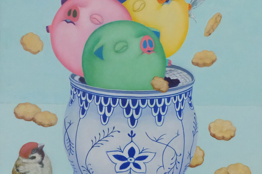 Happy Pig (Cookie Can)