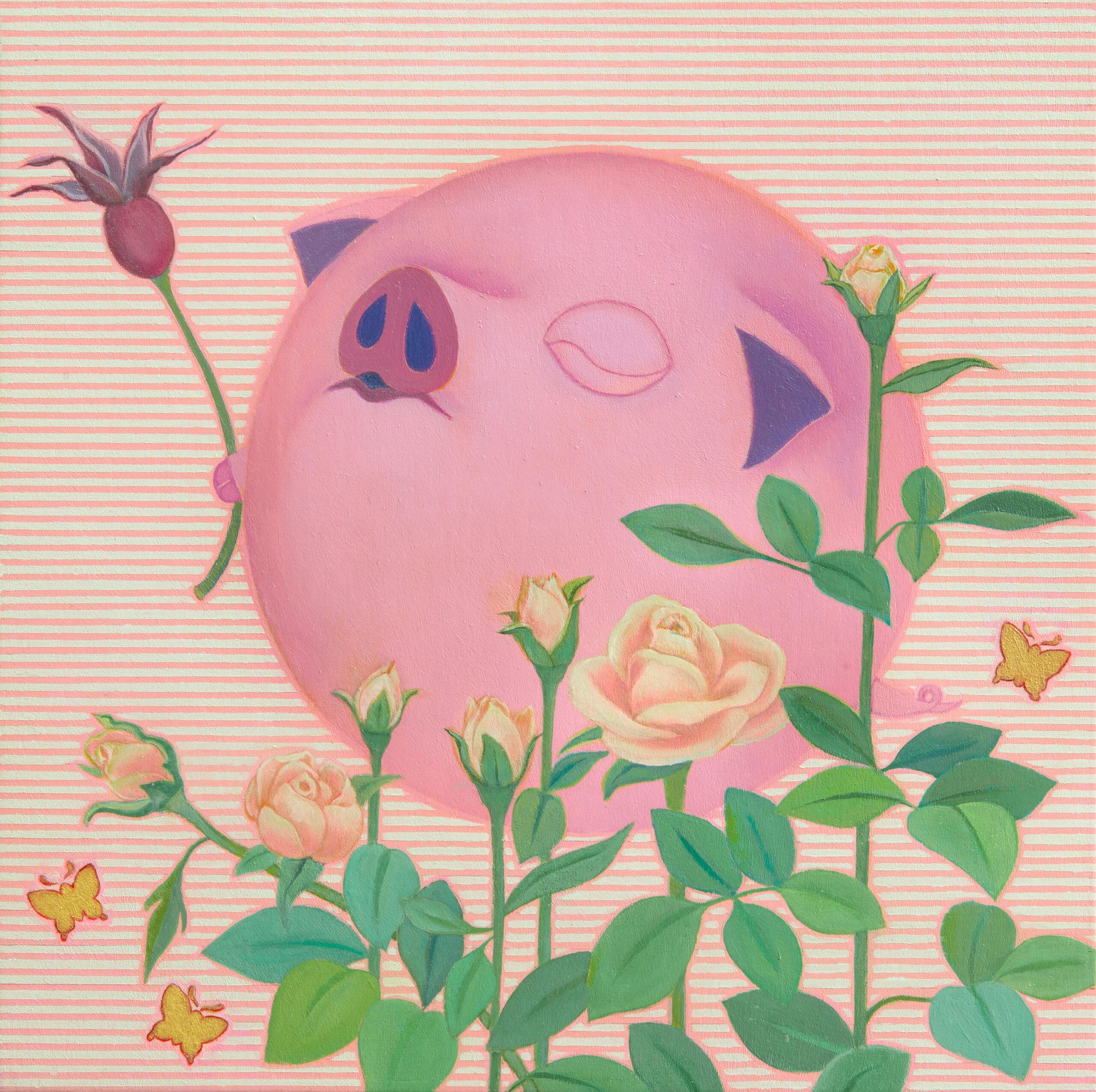 Happy Pig (Rose-2)