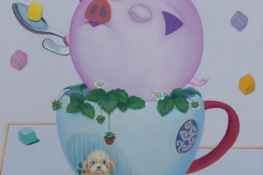 Happy Pig (Tea Cup)